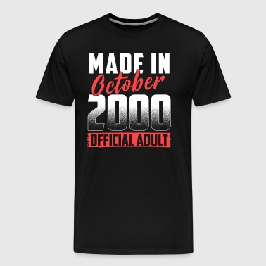 Made In October 2000 Official Adult - Männer Premium T-Shirt