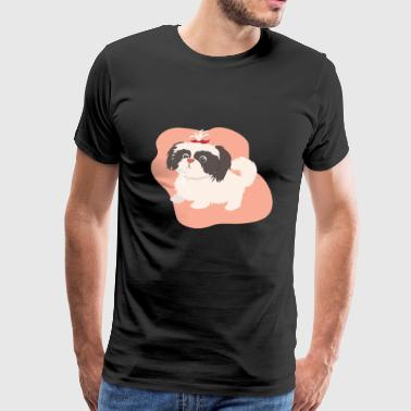 Dog with braid - Men's Premium T-Shirt