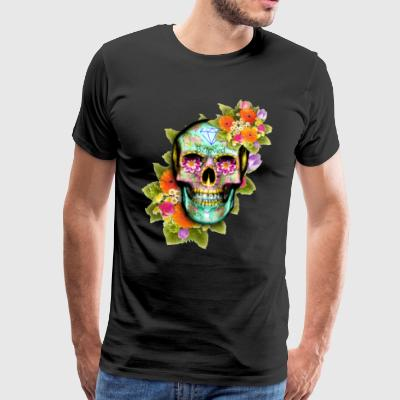 Real Sugar Skull - Premium T-skjorte for menn
