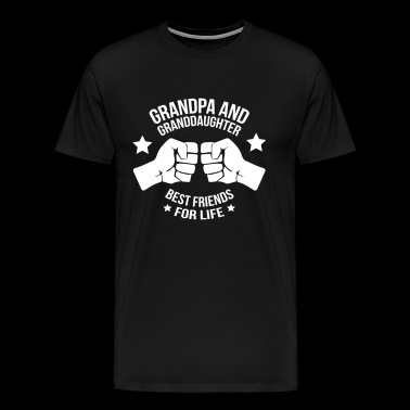 Grandpa And Granddaughter Best Friend - Men's Premium T-Shirt