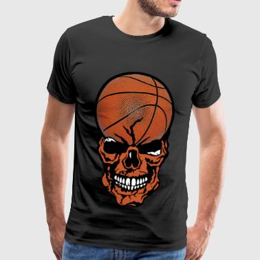 head of death basketball ball skull crane sport f - Men's Premium T-Shirt