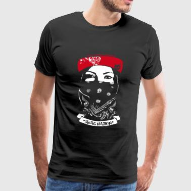 SWAG Nation cool Gangster Bandit Rapp street cat - Men's Premium T-Shirt