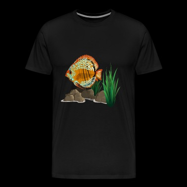 Discusfish aquarium - T-shirt Premium Homme