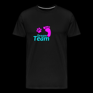 Dream Team pink blue - Men's Premium T-Shirt