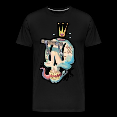 Skull for gambling - Premium T-skjorte for menn