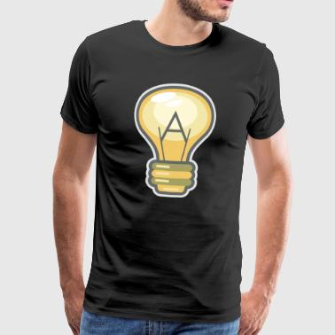 Ateist Logo Ateism Religion Science Logic - Premium T-skjorte for menn