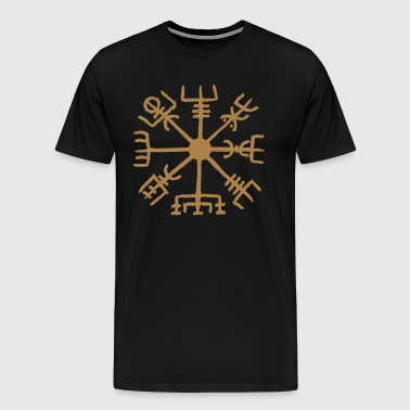 Vegvisir, Magic, Runes,  Protection & Navigation - Koszulka męska Premium