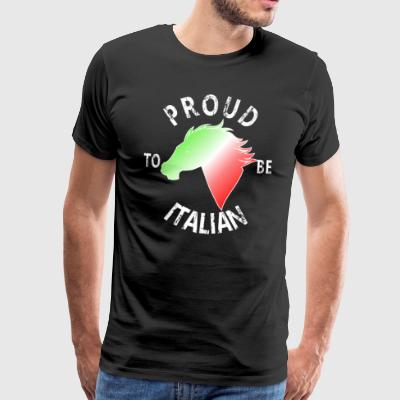 Proud To Be Italian - Premium T-skjorte for menn