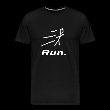 Run. Sport Running Gift Fitness - Men's Premium T-Shirt