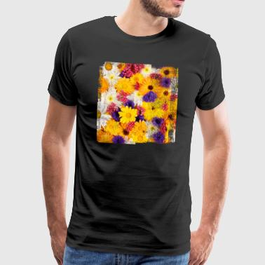 Flower flowers spring spring nature garden bloom - Men's Premium T-Shirt