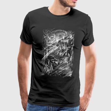 scratched mummy skull - Men's Premium T-Shirt