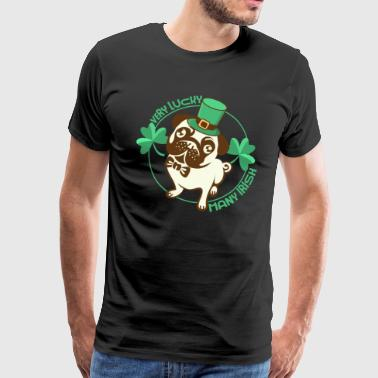 Happy saint patrick's dog - Men's Premium T-Shirt