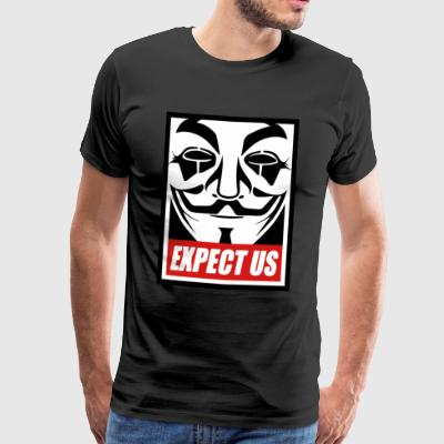 Anonymous - Expect us - We are legion - Männer Premium T-Shirt