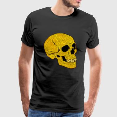 YellowSkull - Herre premium T-shirt