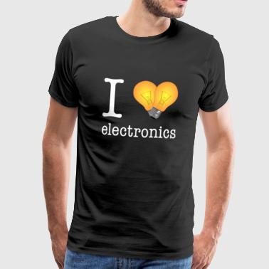 I love Electronics - electronics / gift idea - Men's Premium T-Shirt