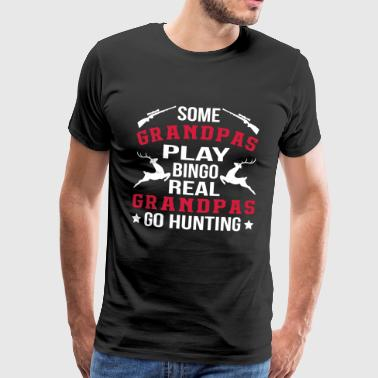 Real Grandpas Go Hunting - Men's Premium T-Shirt