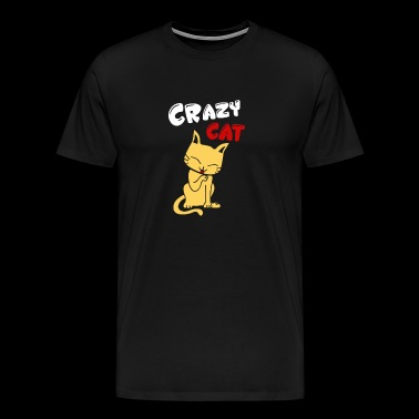 Cats cat | Crazy Cat - Men's Premium T-Shirt