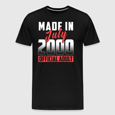 Made In July 2000 Official Adult - Männer Premium T-Shirt