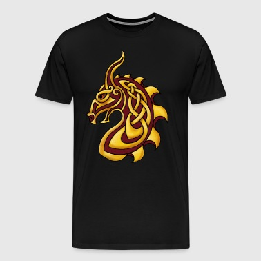 Celtic Dragon Red Gold - Men's Premium T-Shirt