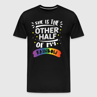 Matching Lesbian Couple Other half of my Rainbow - Men's Premium T-Shirt