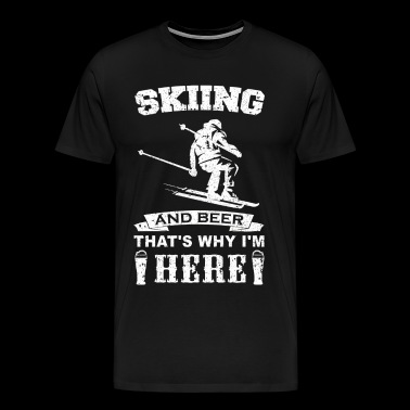 Beer and skiing T-shirt gift skier - Men's Premium T-Shirt