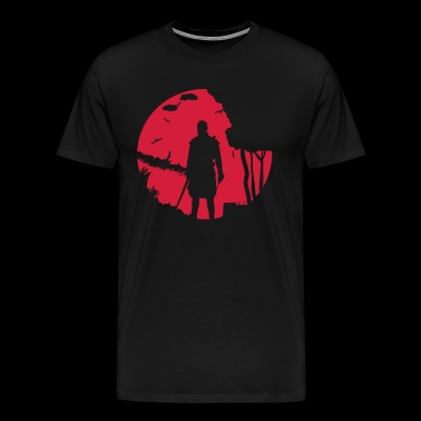 Warrior in het maanlicht - Mannen Premium T-shirt