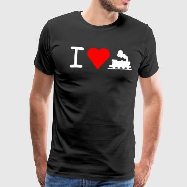 I love railroad - Men's Premium T-Shirt