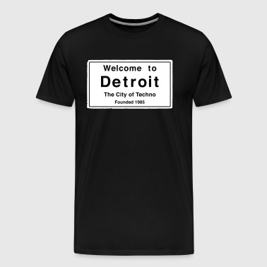 Detroit The City of Techno - Men's Premium T-Shirt