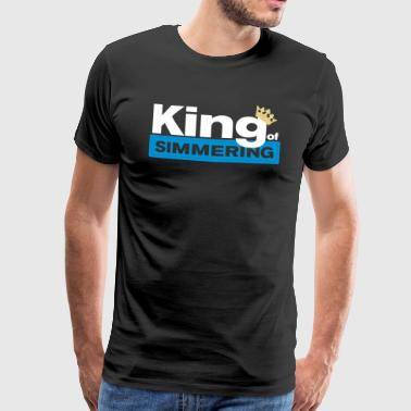 King of Simmering - Premium-T-shirt herr