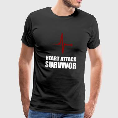 Heart Attack Survivor - Herre premium T-shirt