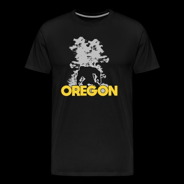 Bigfoot Oregon Sasquatch - T-shirt Premium Homme