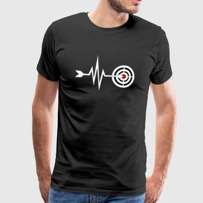 My heart beats for archery - archery - Men's Premium T-Shirt