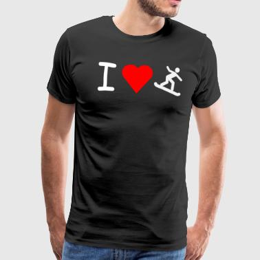 I love surf des neiges - T-shirt Premium Homme