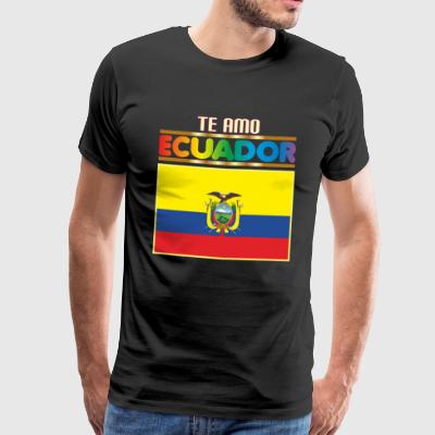 I LOVE YOU ECUADOR - Männer Premium T-Shirt
