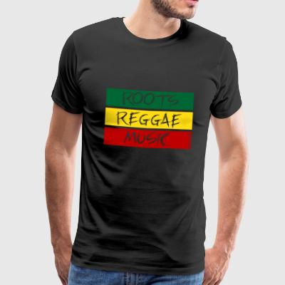 Roots reggae MUSIC - Premium T-skjorte for menn