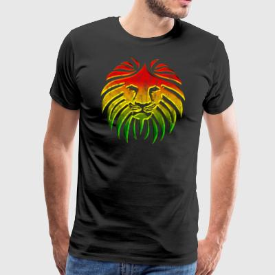 LIKE A LION, Reggae Music Lion, Rasta Revolution, - Men's Premium T-Shirt