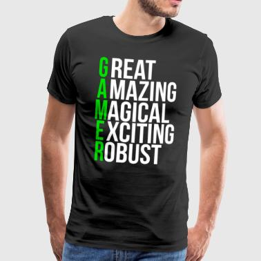 Cool Video Gamer Abreviatura de regalo T-shirt - Camiseta premium hombre