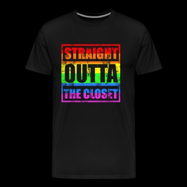 STRAIGHT OUTTA THE CLOSET Gay LGBT Pride - Men's Premium T-Shirt