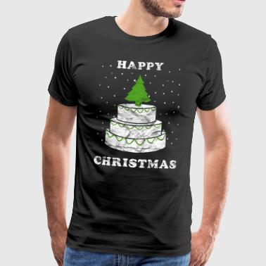 Christmas cake Happy Christmas Vintage - Premium-T-shirt herr