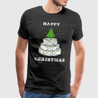 Christmas Cake Happy Christmas Vintage - Men's Premium T-Shirt