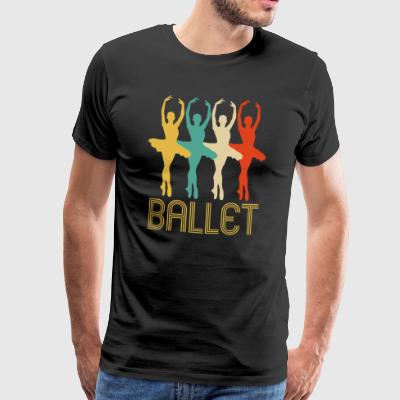 Fantastisk Retro Pop Art Ballett Gaver til Ballerinas - Premium T-skjorte for menn