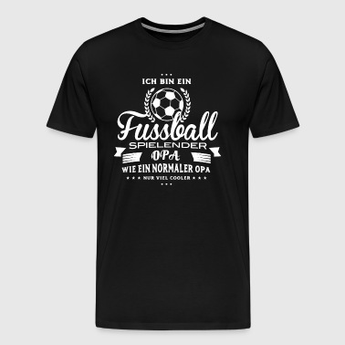 Football Shirt-Cool Grandpa - Men's Premium T-Shirt