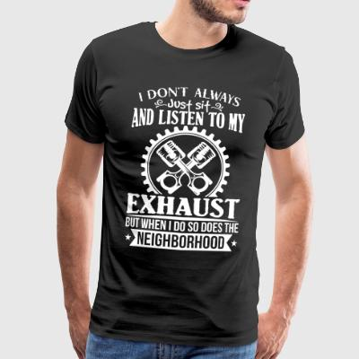 Exhaust car fanatic - auto - Männer Premium T-Shirt
