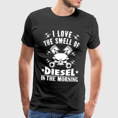 Love the smell of diesel in the morning - auto - Männer Premium T-Shirt
