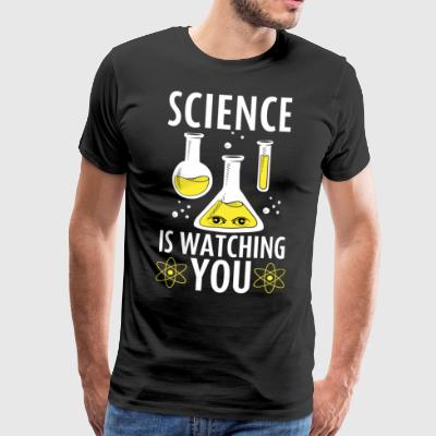Science Is Watching You - Männer Premium T-Shirt