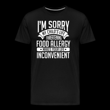 My Child's Life Threatening Food Allergy - Männer Premium T-Shirt