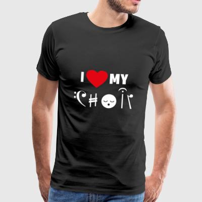 Choir love singing musician hobby gift - Men's Premium T-Shirt