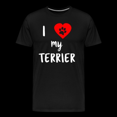 I love my Terrier - Männer Premium T-Shirt