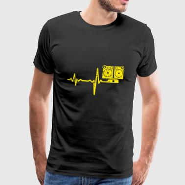 Gift Heartbeat jukebox - Mannen Premium T-shirt