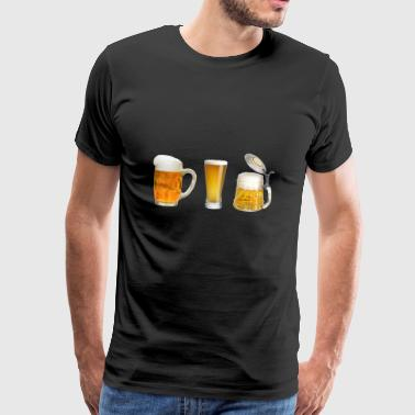 beer glasses - Men's Premium T-Shirt